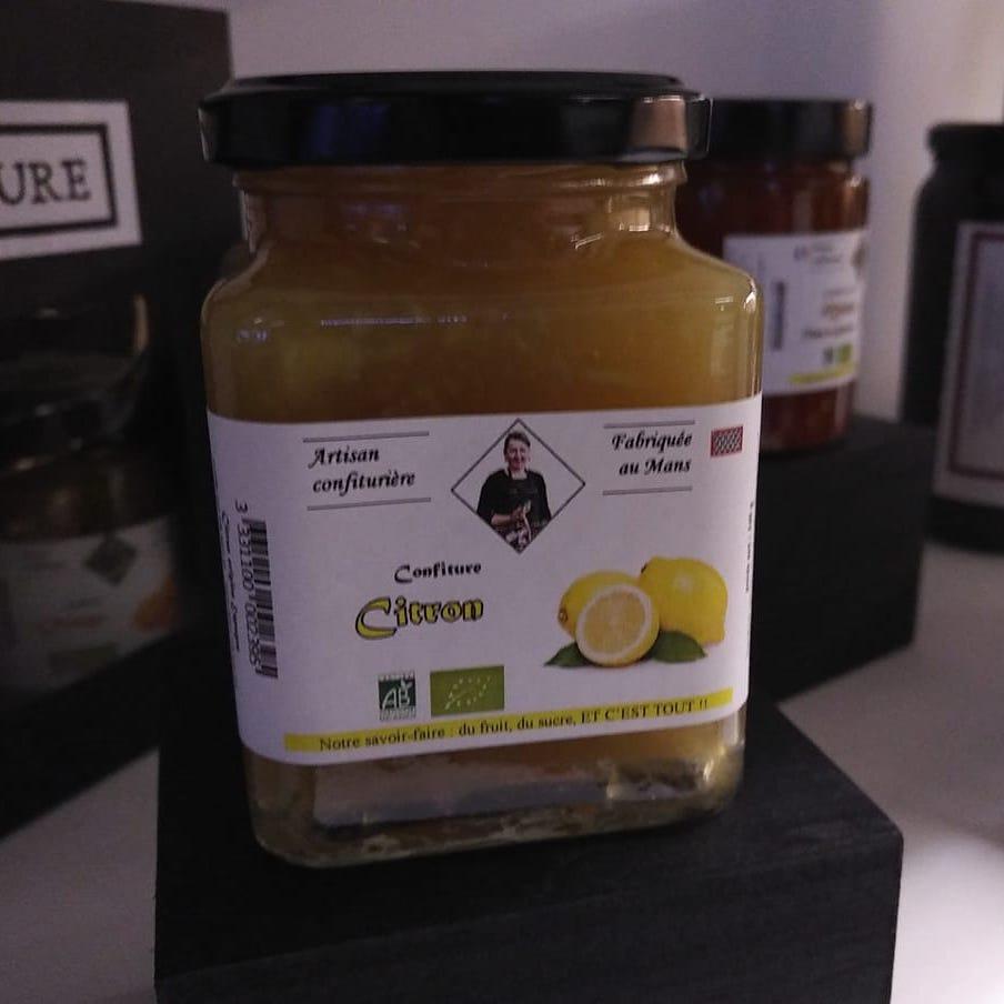 confiture bio citron - La Ferme de la Métairie